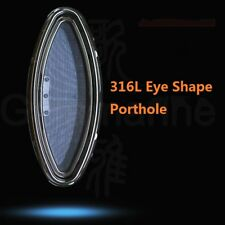 "250*575mm 9.8*22.6"" Eye Shape 316L SS Opening Portlight Porthole For Marine Boat"