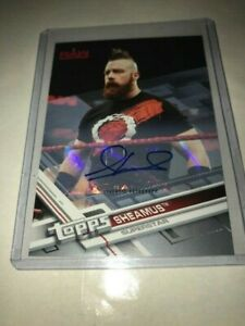 2017 Topps WWE Then Now Forever Blue 05/25 Sheamus #136 Auto
