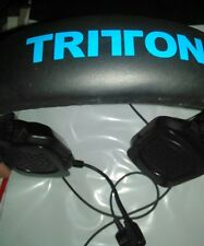 Tritton kama headset headphones with mic, volume control, black and blue