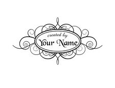 HANDLE MOUNTED PERSONALIZED CREATED BY CUSTOM NAME RUBBER STAMPS SCRAPBOOK C42