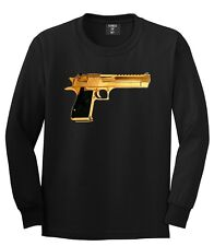 KINGS OF NY BLACK GOLD GUN TSHIRT CO  NEW YORK AND Gold   SUPPLY