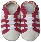 shoeszoo sports fuchsia white 12-18m S soft sole leather baby shoes