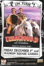 TENACIOUS D Jack Black Concert Handbill Mini Poster NYC 2006