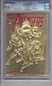 """Avengers #366 CGC 9.6 W/P """"Deadpool App.""""...Retribution!! ..Embossed Gold Cover!"""