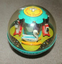 VINTAGE FISHER PRICE TOY ROCKING HORSE & SWAN ROLY POLY CHIME BALL