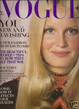 Vogue November 1970-Talitha Getty-Ali MacGraw-Angelica Huston-Lauren Hutton