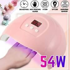 54W Professional Gel Nail UV Light Lamp LED Nail Dryer Polish Curing Auto Sensor
