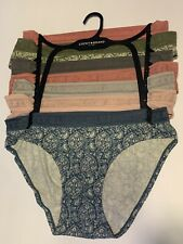 Lucky Brand Womens Bikini Underwear Panties Polyester Blend 7-Pair Soft ~ M