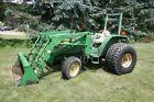 John Deere 1070 Diesel Tractor w/ 430 Bucket Loader 9/3 Speed Yanmar 4cyl 2WD