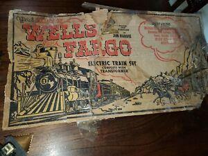 VINTAGE LOUIS MARX & CO. Wells Fargo electric train set with transformer.