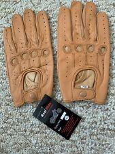 XL Tan leather Men driving Gloves