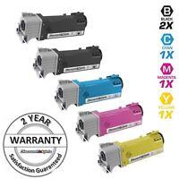 5PK Black Cyan Magenta Yellow Laser Toner Cartridge for Dell Color 2130cn 2135CN