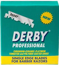 100 BLADES SINGLE EDGE DERBY EXTRA  PROFESSIONAL RAZOR BLADES (100 PIECES)