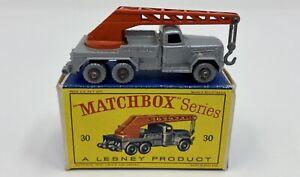 Matchbox No. 30 Magirus-Deutz 6 Wheel Crane Truck in Original 'D' Box