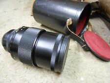 "MC Sonnar auto 2,8/200 Carl Zeiss Jena DDR Lens & or.leather Hood,"" mirror lens"""