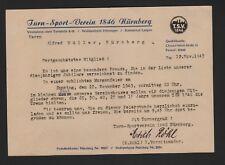 NÜRNBERG, Brief 1949, Turn-Sport-Verein 1846 Nürnberg