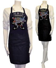 Cute Rhinestones Two Pocket Apron Hair Stylist Salon Beauty Flower & Butterfly