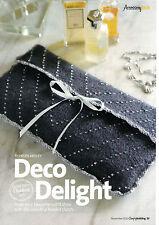 ~ Lavorato a Maglia & Crochet Pattern per LADY'S BELLISSIMO infeltriti a mano con perline da sera CLUTCH BAG ~