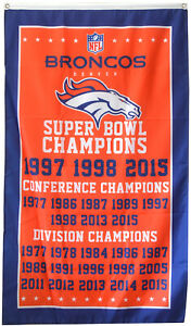 Denver Broncos NFL Super Bowl Championship Flag 3x5 ft Sports Banner