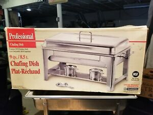 Tramontina Chafing Dish 9 Quart Stainless Steel Tray Buffet Catering warming