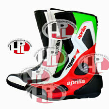 New motorcycle Aprilia Rsv4 rr boots Motorbike Race leather aprilia shoes green