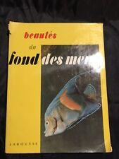 Livre Beautés Du Fond Des Mers Poissons Coquillages Océans