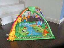 Fisher-Price K4562 - Rainforest Erlebnisdecke, Baby Krabbeldecke Spielbogen -TOP