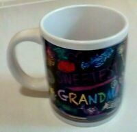 Sweetest Grandma Coffee Cup Mug Festive Design Around Cup