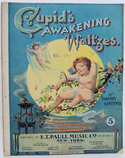 Cupid's AWAKENING Waltzes DANNO SINTENIS Sheet Music 1899 Scarce!