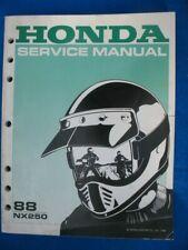 Honda 1988 NX250 Brand New Original Factory Service Shop Manual P532