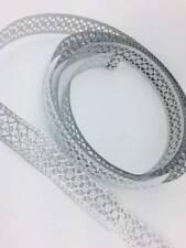 "Silver Color Metal Embossed Ribbon Craft Trim 1"" Wide 9 Feet Long"