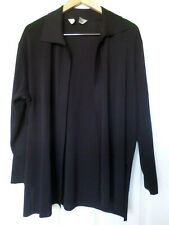 Exclusively Misook womens size XL? black long open stretch knit cardigan
