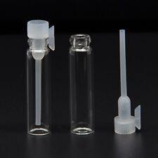 100PCS Empty Sample Glass Vial Bottles Perfume Samplers 1ML 8x 35mm