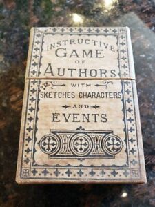 Antique Card Game Vintage 1878 Instructive Game of Authors