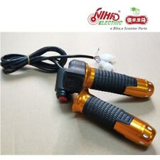 14 12V-72V Ebike Twist Grip Throttle With 3 Speed Switch And LED Digital Voltage