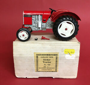 1970's Maxwell Toys of India 1/25 Eicher Tractor No599 VGIB