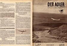 Luftfahrt Zeitschrift Der Adler BWLV Januar 1957 16 S Flugzeug Porsche Flugmotor