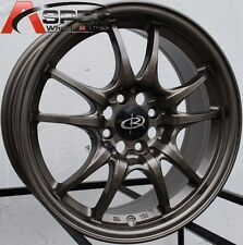 15X6.5 +45 ROTA CIRCUIT 10 BRONZE 4X100 WHEEL JDM OLD SCHOOL HONDA ACURA SCION