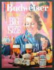 """1961 Budweiser Beer Half Quart 16 Ounce Cans """"Buy The Big Size"""" Vintage Print Ad"""