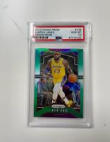 2019-20 Panini Prizm Green Prizm #129 LeBron James Los Angeles Lakers PSA 10