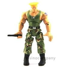 "4"" JAZWARES STREET FIGHTER Green GUILE ACTION FIGURE GAME BOYS TOYS Gift"