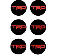 6x TRD Vinyl Decal Sticker Center Wheel Fuel Tank Decal