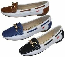 Zapatos planos de mujer mocasines color principal blanco