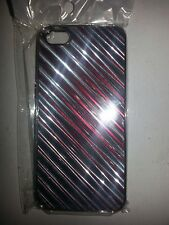 METAL HARD BACKING CASE (RED STRIPES) FOR APPLE iPhone 5