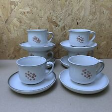 Vintage Denby Gypsy Pink Floral Tea Cups