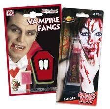 SANGUE FINTO DENTI da Vampiro ZANNE Dracula Halloween finta Vestito da festa e351dc7e5a8b