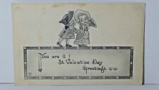 YOU ARE IT! Vintage Valentines Day 1913 Black & White Post Card