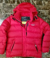 Ralph Lauren Polo Jeans Co Womens Red Down Puffer Jacket sz M Hoodie Winter Coat