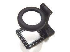 Carson Glass Lens Metal Linen Test 6x20mm Folding Metal Magnifier w/ Pouch Loupe
