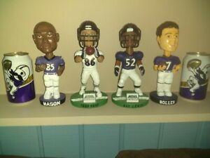Ray Lewis Todd Heap SGA Baltimore Ravens NFL Bobblehead + Boller Mason BOH mbna